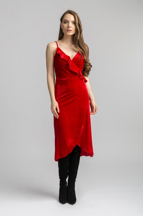 Rochie de catifea 6270