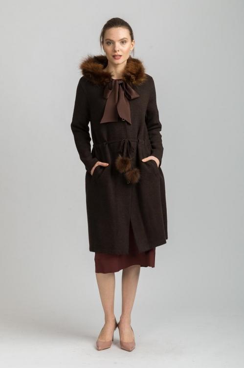 Jacheta cu guler de blana 5806