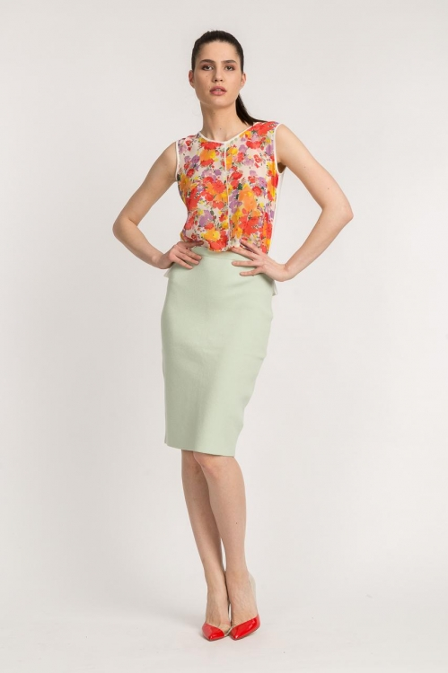 Top cu print floral 5775