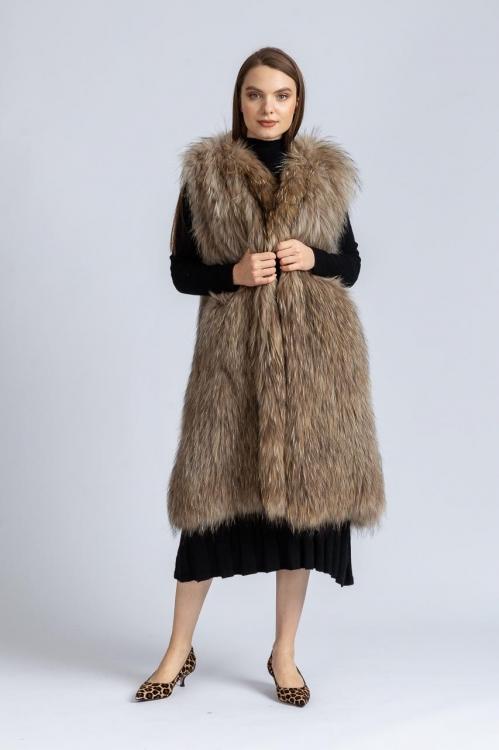 Vesta din blana de vulpe 38