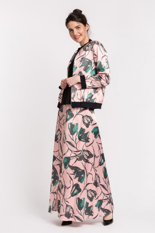 Jacheta cu imprimeu floral 6175