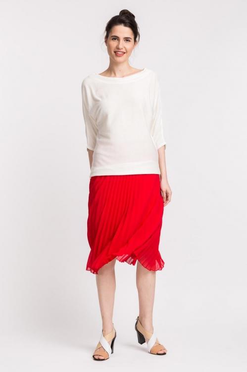 Bluza alba tricot 6090V