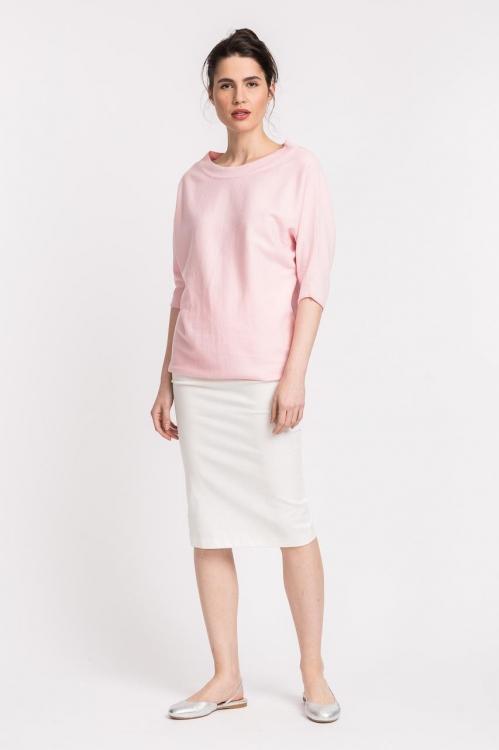 Bluza roz tricot 6090