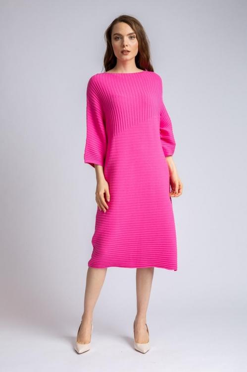 Rochie tricot fucsia 6123