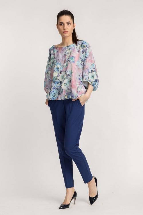 Pantaloni office albastri 5397FVX
