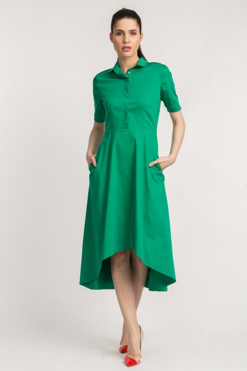 Rochie asimetrica verde 5606