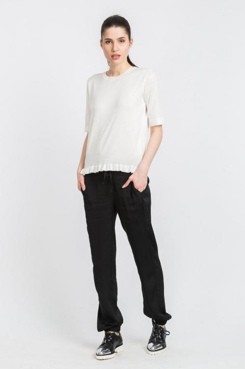 Bluza alba tricotata 5563W