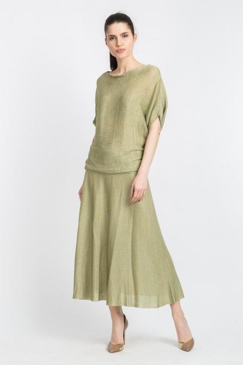 Bluza asimetrica olive 5750X