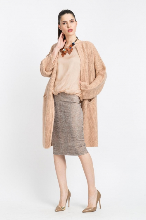 Cardigan lung tricot 6133