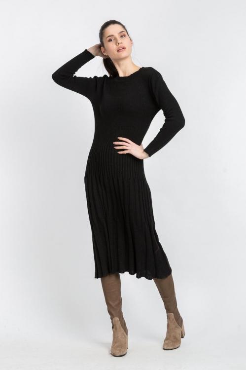 Rochie tricot neagra 6119