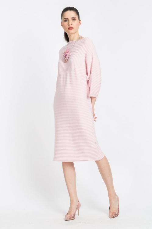 Rochie tricot roz 6123