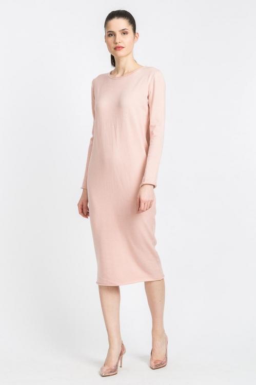 Rochie midi conica roz 6057