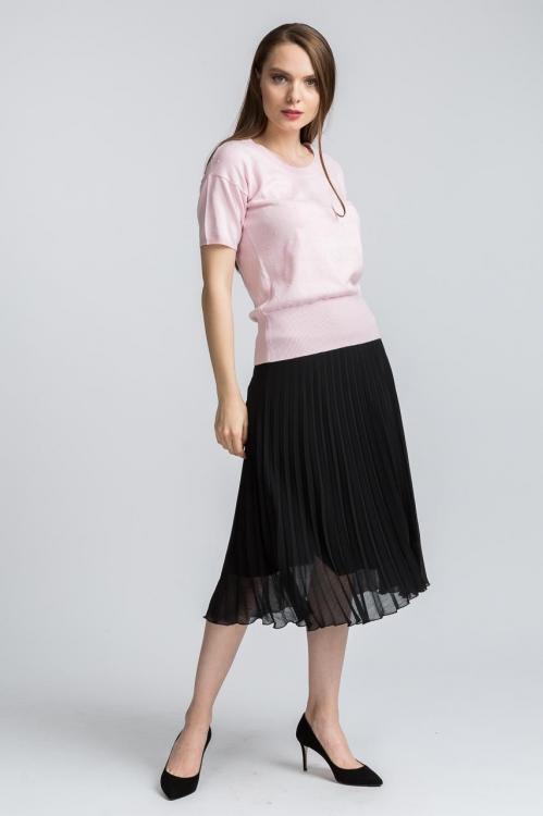 Bluza tricot roz deschis 6156