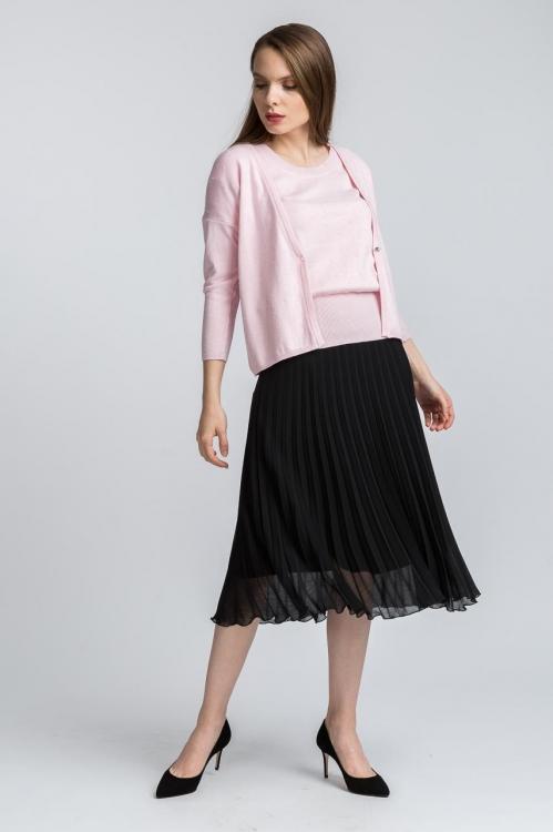 Cardigan tricot roz 6155