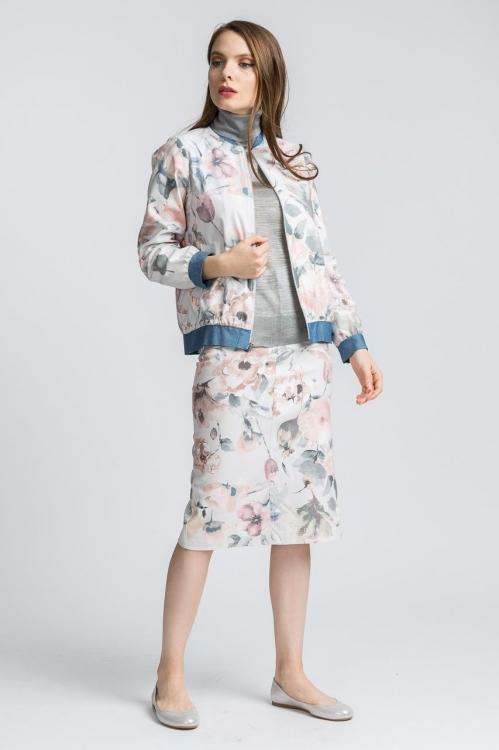 Jacheta cu imprimeu floral 6175V