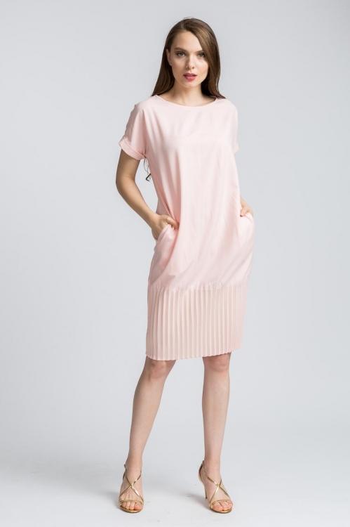 Rochie midi roz 6072