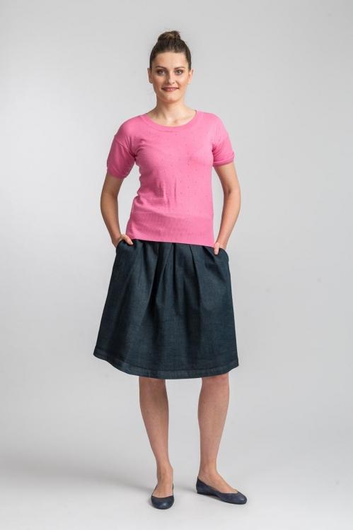 Bluza tricot roz 6156