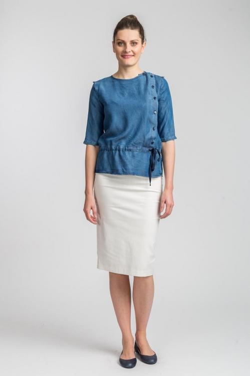 Bluza albastra cu nasturi 5645
