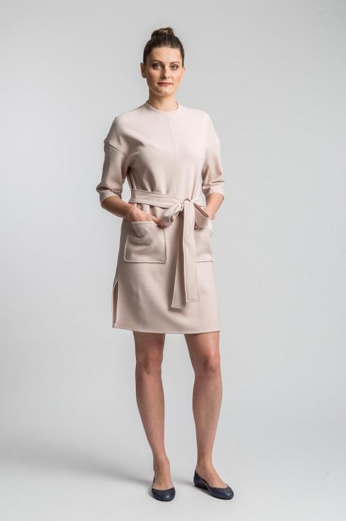 Rochie midi roz 6165