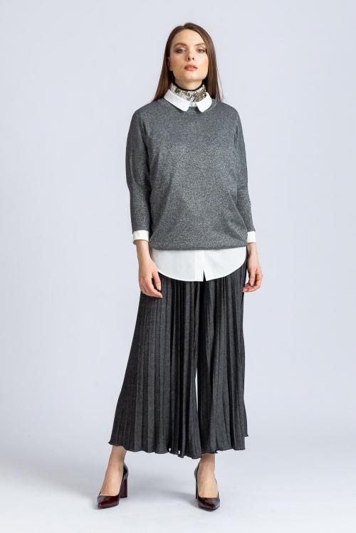 Pantalon cu pliseuri 6492