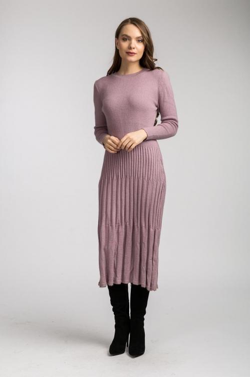 Rochie tricot lila 6119