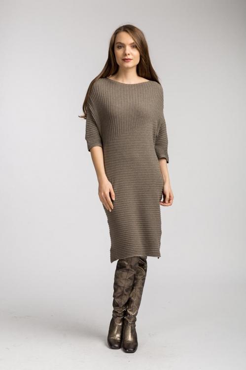 Rochie tricot grej 6123