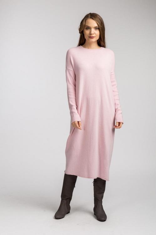 Rochie midi roz 6097