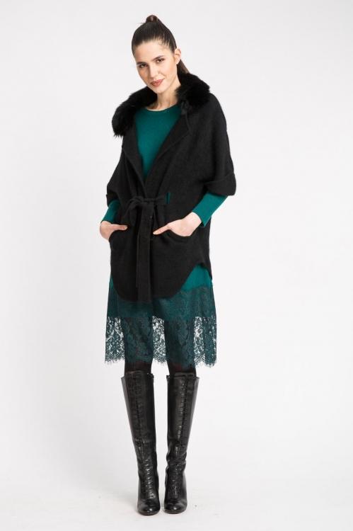 Jacheta cu guler din blana 5507S