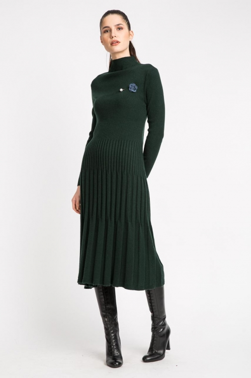 Rochie verde cu accesoriu 5820S