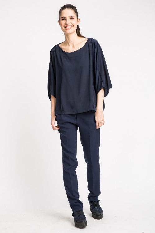 Bluza bleumarin lejera 5683WT