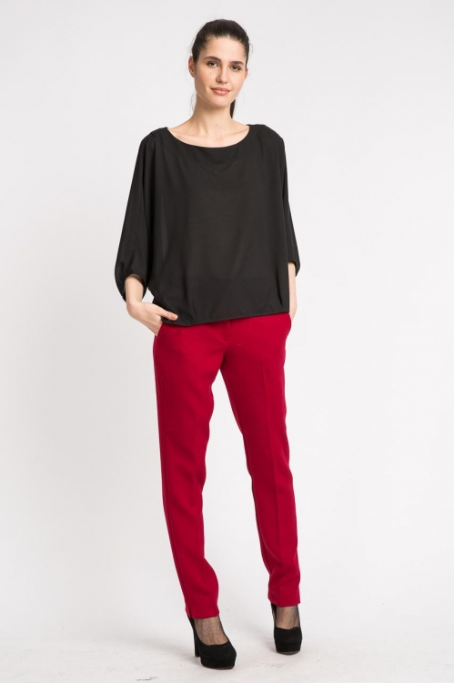 Bluza neagra lejera 5683W