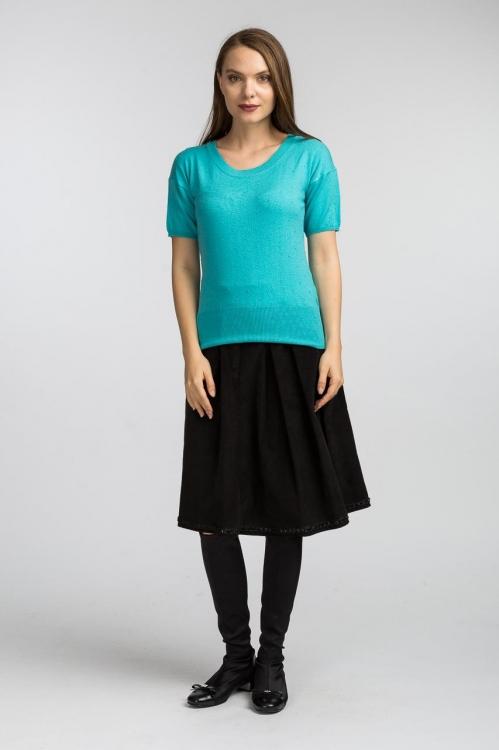 Bluza tricot turquoise 6156V