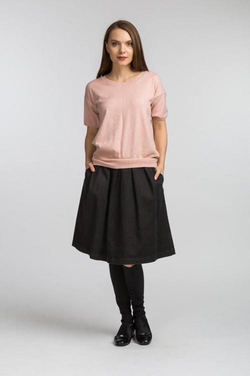 Bluza tricot roz antic 6156