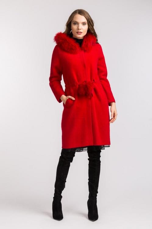 Jacheta lunga rosie 5806S