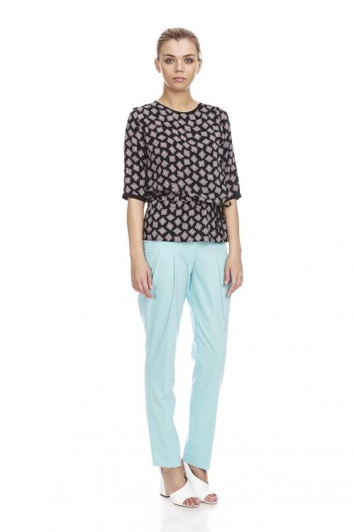 Pantalon bleu cu pense 5677