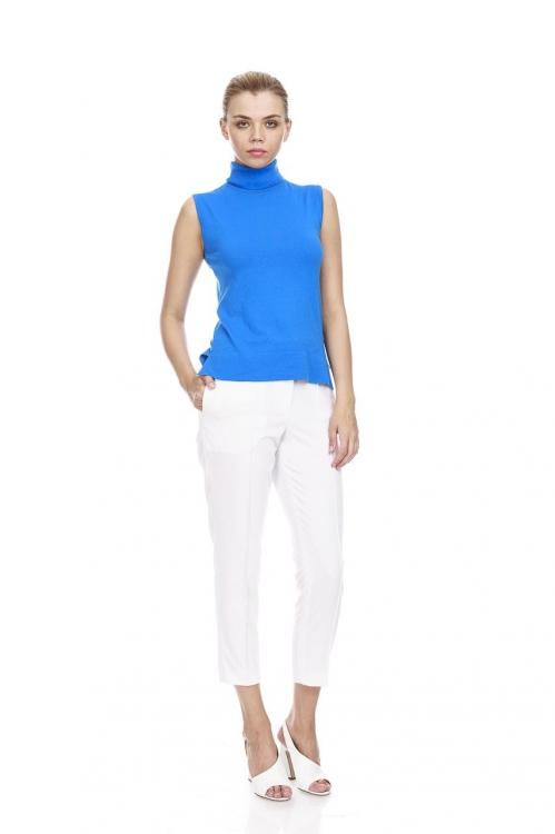 Pantalon conic alb 5676