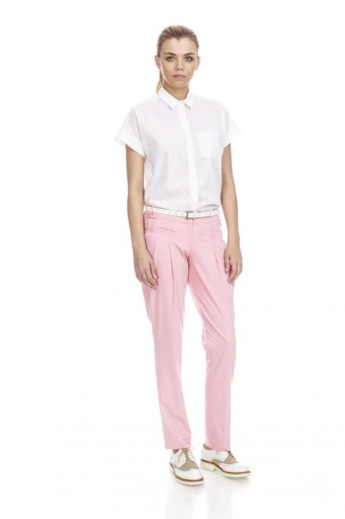 Pantalon roz cu pense 5677