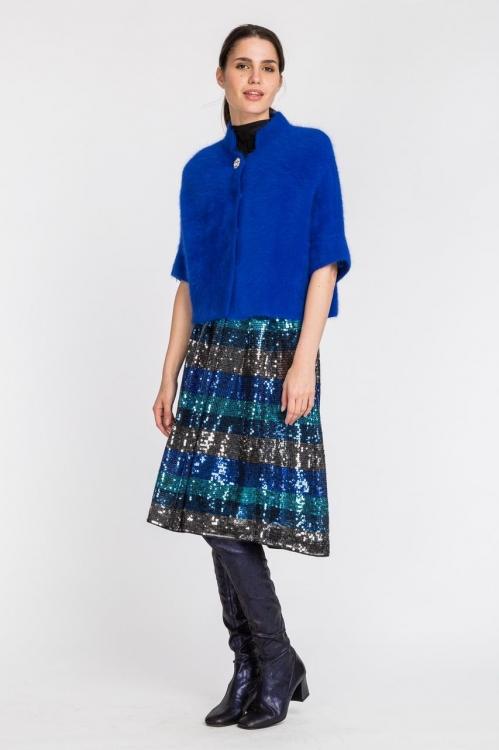 Jacheta albastra scurta cashmere 5557S