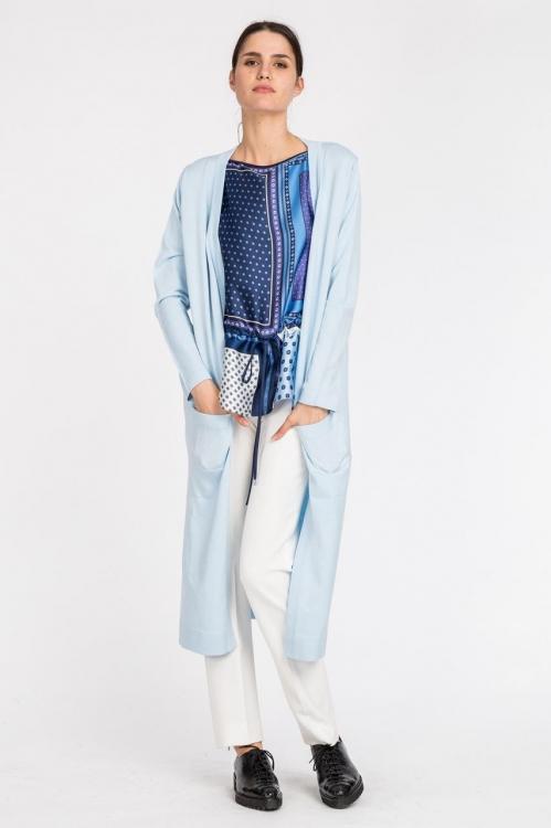 Cardigan lung tricotat 6007