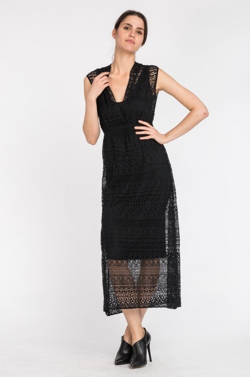 Rochie neagra eleganta 5524D