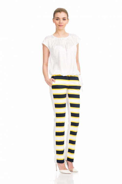 Pantalon conic dungi galbene 5655