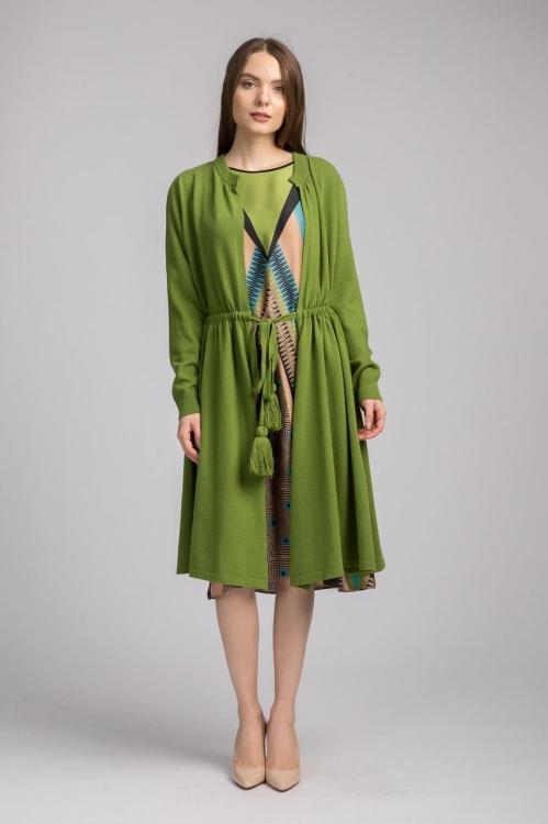 Cardigan de lana cu cordon 5803